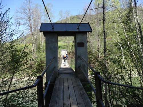 Wasserwanderweg Hittisau Hängebrücke