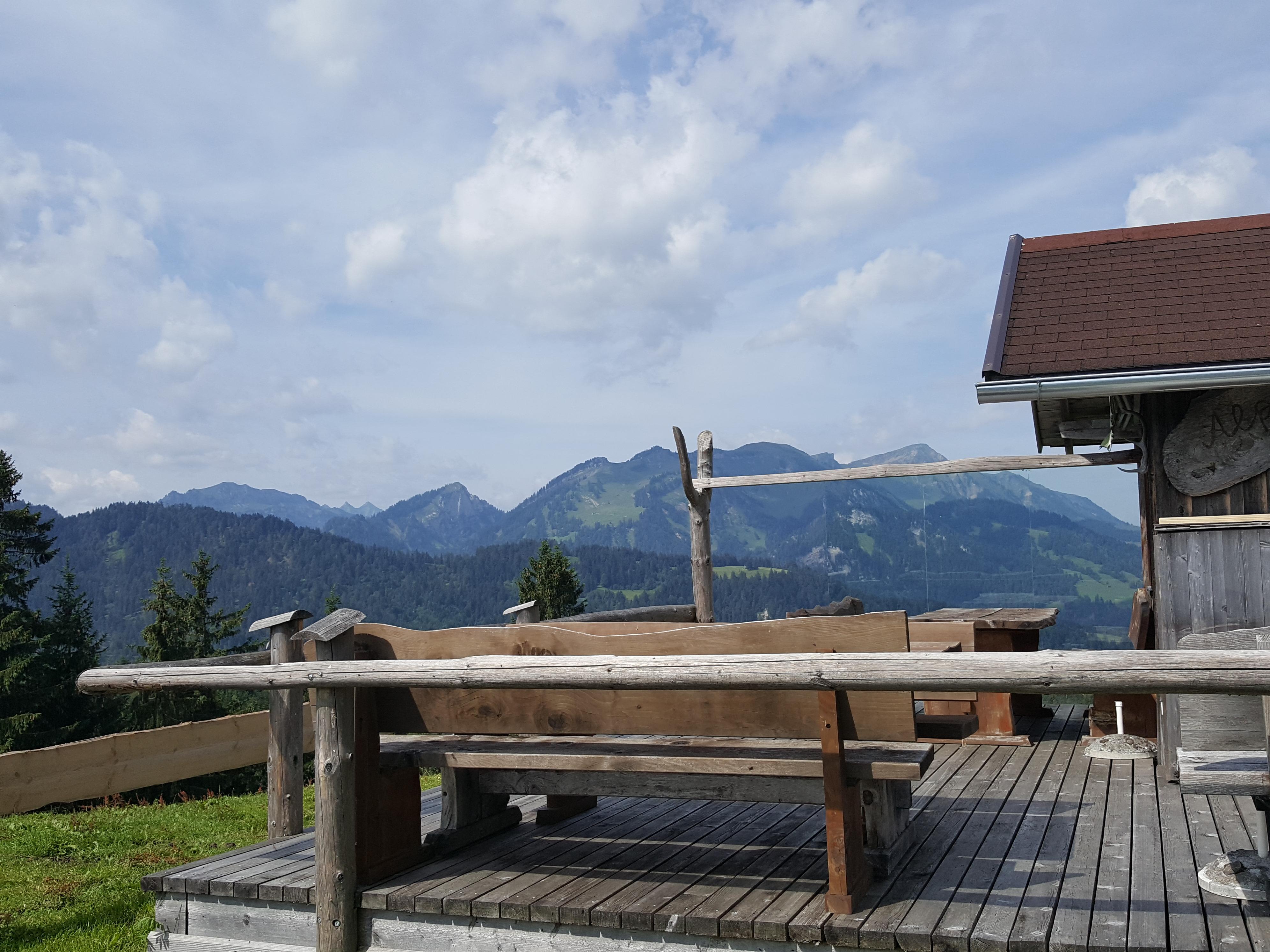 Aussicht Alpe Felgen Richtung Winterstaude