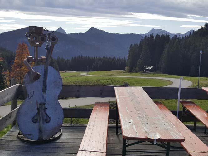 Auf der Terrasse der Stubental Alpe