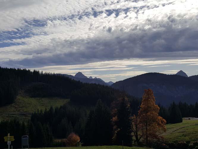 Blick von der Terrasse der Stubental Alpe