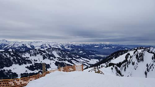 Aussicht von der Hochgrat Bergstation