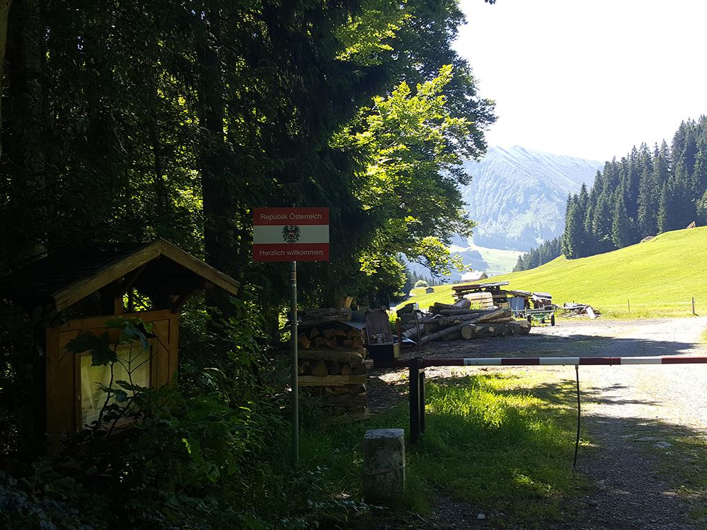 Vorarlberg Landesgrenze ist erreicht