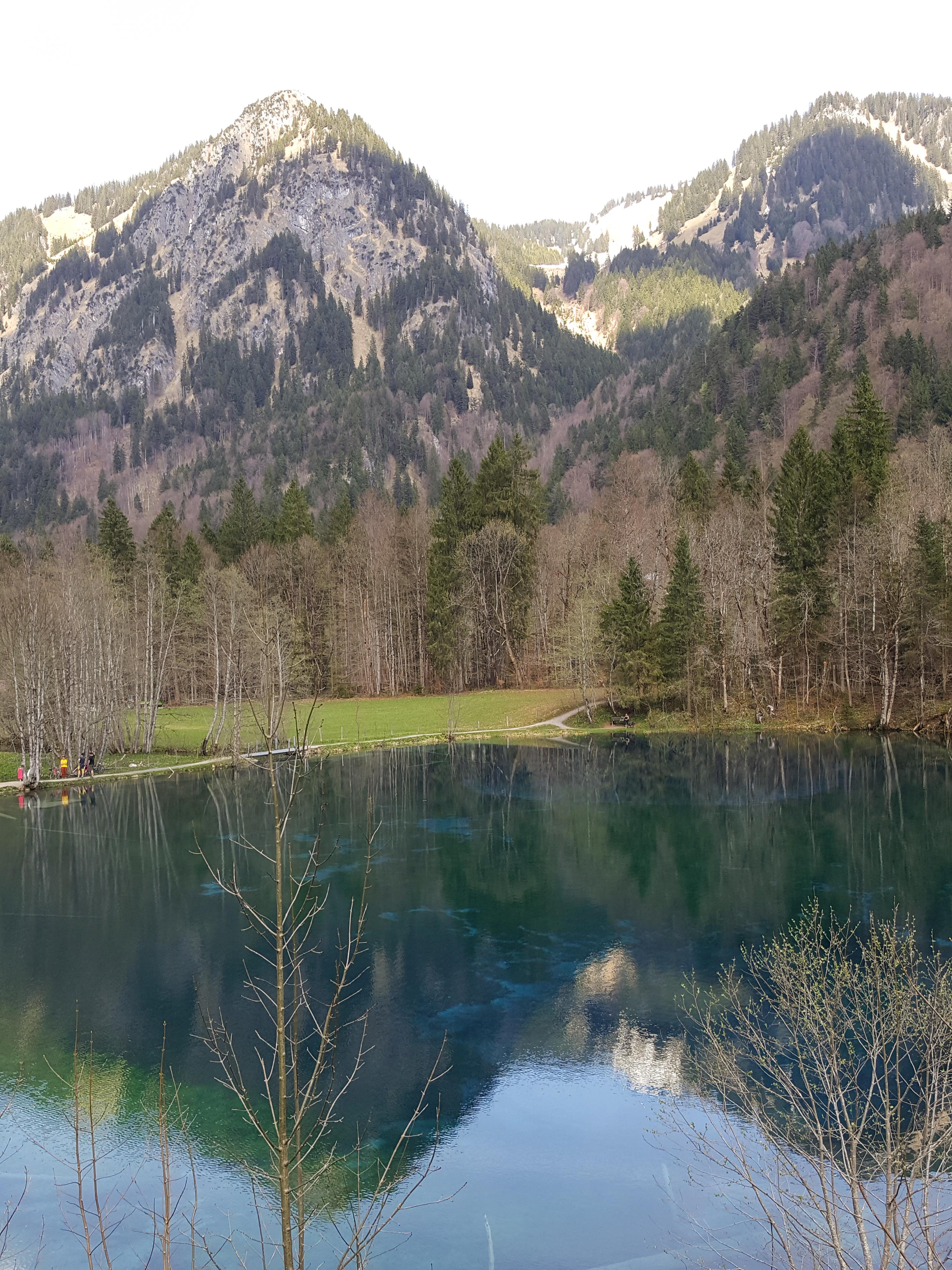 Der Christlessee bei Oberstdorf im Trettachtal