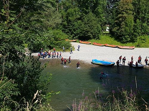 Rafting auf der Iller bei Sonthofen