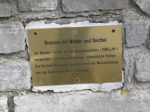Oberstdorf am Kurpark - Brunnen mit Widder und Deichsel