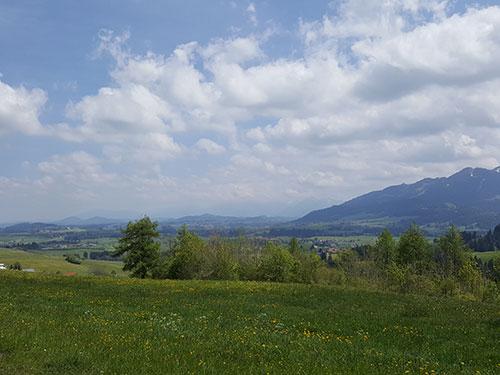 Blick ins Füssener Land