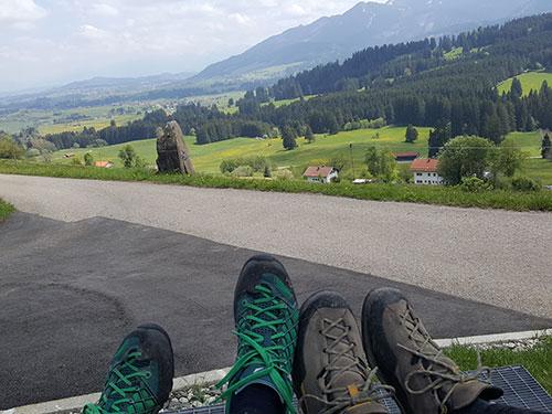 Die Aussicht über Mittelberg genossen