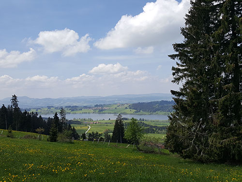 Rottachsee vom Höhenzug über Mittelberg