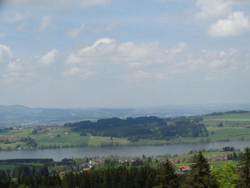 Blick auf den Rottachsee von der Ellegger Höhe