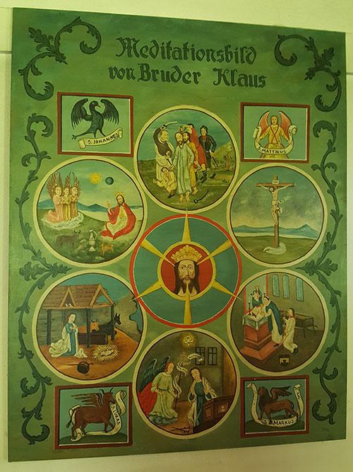 Meditaionsbild Bruder Klaus Kapelle