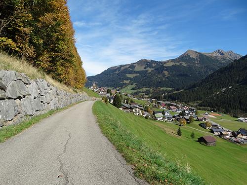 Baader Höhenweg kurz vor Mittelberg