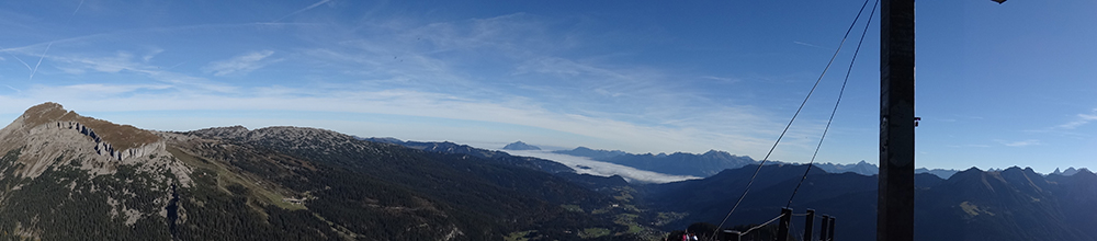 Panoramabild Gipfel Walmendingerhorn